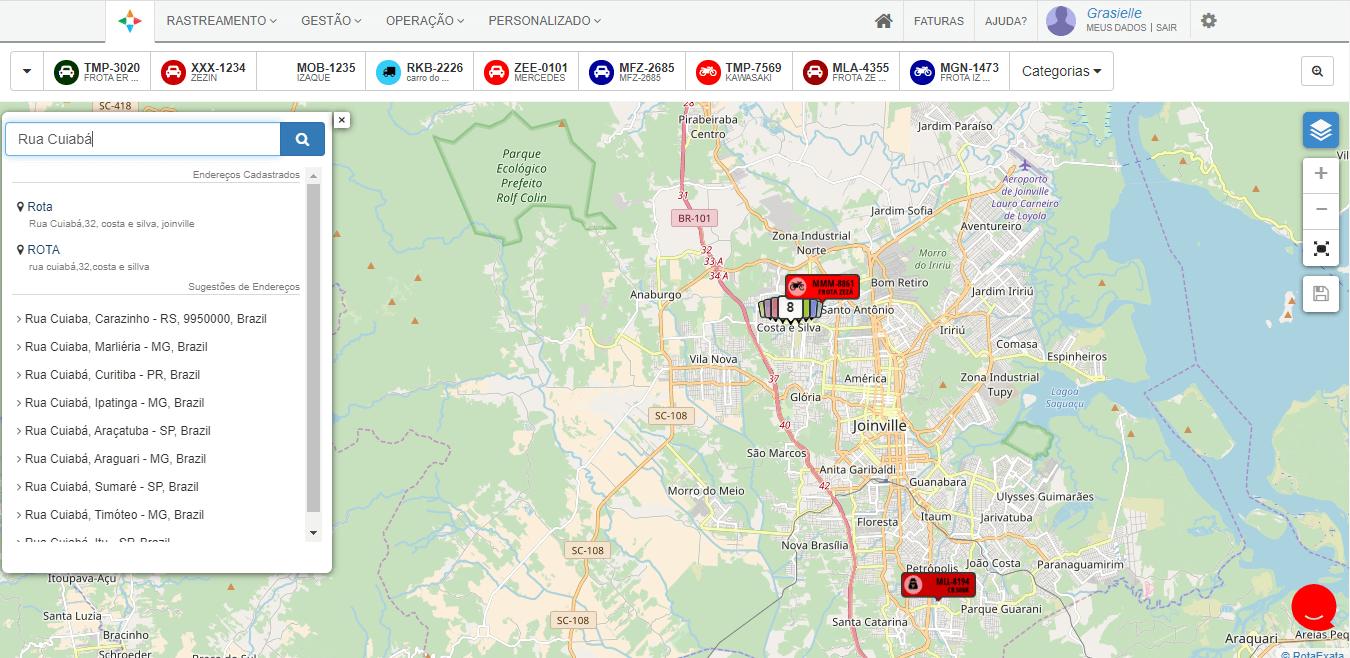 mapa para serviços de pronto atendimento