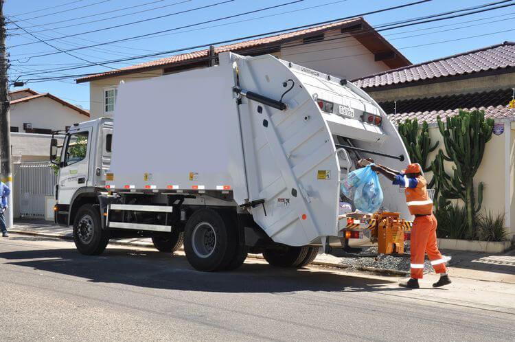 operações de coleta de resíduos