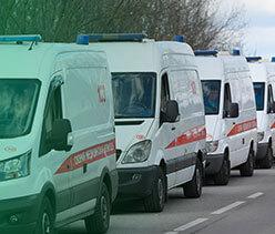 política de frotas para ambulâncias