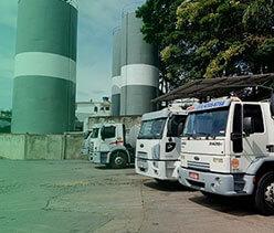 política de frotas para entregas de gás e água