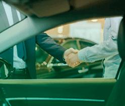 gestor e motorista que tem um bom relacionamento
